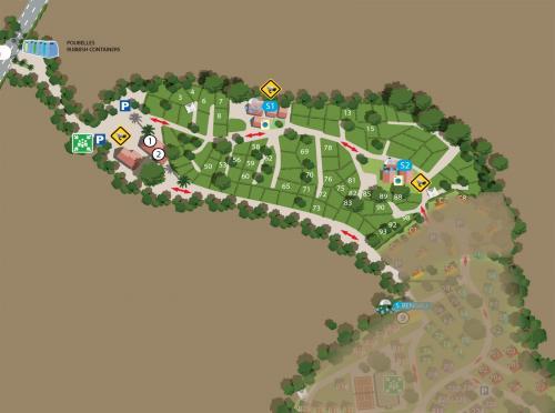 plan position emplacement tente